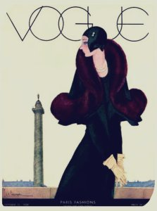 Founded in 1892, Vogue has been at the forefront of fashion publications for well over 100 years! This example is from the 1920s Art Deco era.