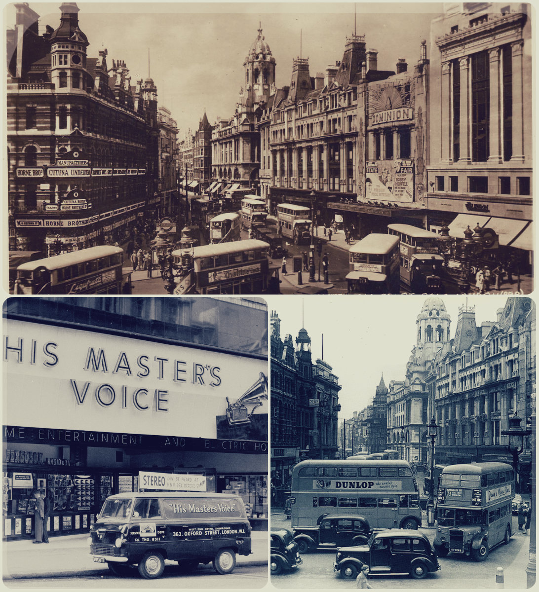 Tottenham Court Road and Oxford Street