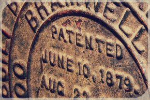 Patent plate from 1879